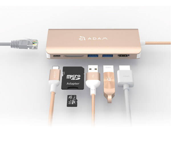 Adam Elements CASA Hub A01 USB 3.1 Type C 6 in 1 - Gold