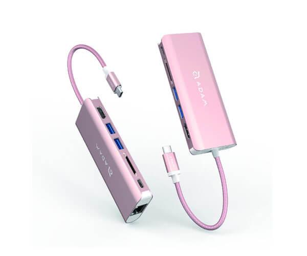 Adam Elements CASA Hub A01 USB 3.1 Type C 6-in-1 - Pink