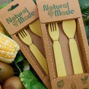Natural Made Spoon and Fork Set