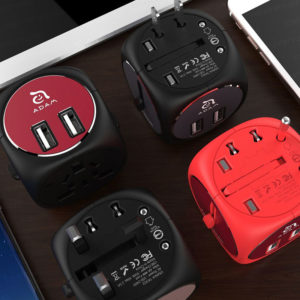 Omnia TA502 五合一多功能雙孔 USB 旅行萬用轉接頭