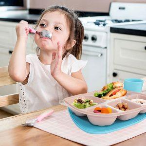 Firgi 兒童餐盤連水杯套裝 - 大象/鯨魚 (韓國製)