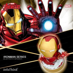infoThink 復仇者聯盟 - Ironman 鋼鐵人系列玩音樂藍牙燈光喇叭 (Infothink Avengers Iron Man Bluetooth Speaker)
