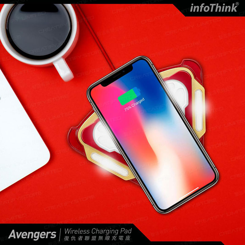 infoThink 復仇者聯盟系列無線充電座 (鋼鐵裝甲反應爐) (infoThink Iron Man Arc Reactor Wireless Charging Pad)