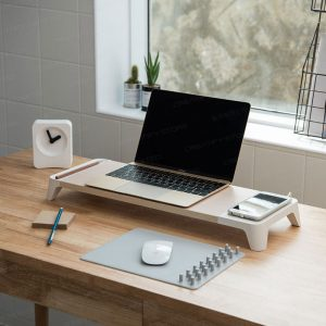Pallo Woody 高級原木設計電腦螢幕架