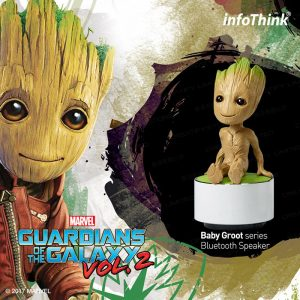 infoThink 星際異攻隊 2 - GROOT 系列玩音樂藍牙燈光喇叭 (infoThink Guardians of the Galaxy Vol. 2 Groot Bluetooth Portable Speaker)