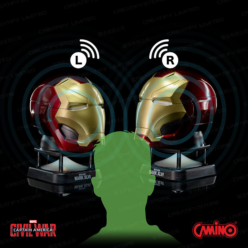 CAMINO MARVEL 鋼鐵人 MK46 迷你藍牙喇叭 (第二代) (Iron Man MK46 Helmet Mini Bluetooth Speaker V2.0)