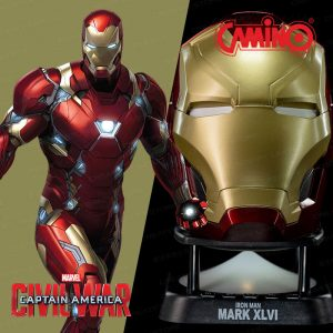 CAMINO MARVEL 鋼鐵人 MK46 迷你藍牙喇叭 (第二代) (Iron Man MK46 Helmet Mini Bluetooth Speaker V2.0)