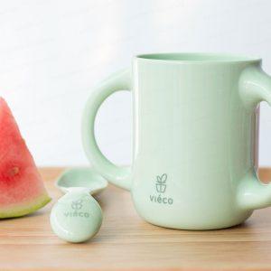 法國 Viéco 天然無毒植物玉米製環保兒童餐具 - 雙耳杯子 (France Viéco PLA Eco-Friendly Kid Tablewares - Two handles Cups)