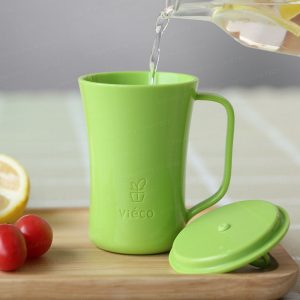 法國 Viéco 天然無毒植物玉米製環保兒童餐具 - 有蓋杯子 (France Viéco PLA Eco-Friendly Kid Tablewares - Covered Cups)