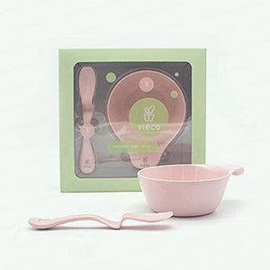 法國 Viéco 天然無毒植物玉米製環保兒童餐具 - 碗 + 匙羹套裝 (France Viéco PLA Eco-Friendly Kid Tablewares - Bowl & Spoon Set)