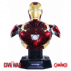 CAMINO MARVEL 1:1 Iron Man 鋼鐵人 MK46 半身像藍牙 HiFi 系統揚聲器組 (Camino Marvel Ironman Mark 46 Bust Life-size Bluetooth Hi-Fi System)